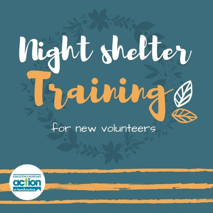 Night Shelter Training for new volunteers